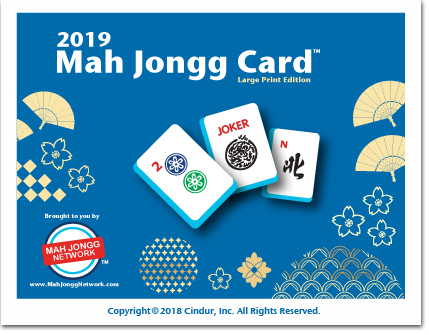 2019 Mah Jongg Card (Large Print Edition)